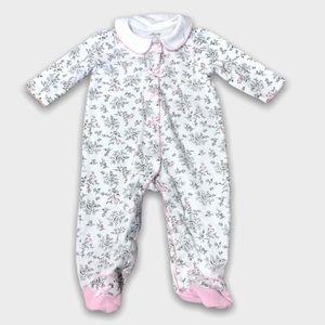 4/$20🥳 White Flower Print Pink Cotton Sleeper